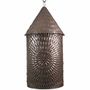Aged Tin Hanging Luminaria Light Fixture