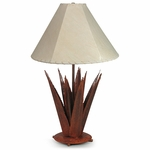 Rustic Iron Agave Table Lamp