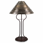 Wrought Iron Harp Table Lamp