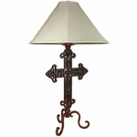 Iron Cross Table Lamp Base
