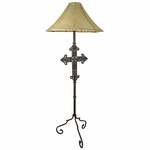 Iron Cross Floor Lamp Base