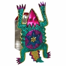 Painted Tin Horny Toad Wall Candle Sconce
