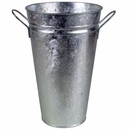 Large Galvanized Tin Vase