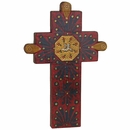 Septum Painted Wood Cross