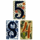3-D Talavera House Number Tiles