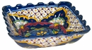 Traditional Talavera Square Scalloped Bowl