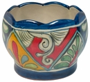 Scalloped Octagon Talavera Flower Pot