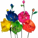 Corn Husk Poppies - Bouquet of 6