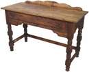 Rustic Wood Turned Leg Colonial Desk