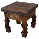 Iron Banded Ox Yoke End Table