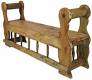 Rustic Menonite Spindle Bench