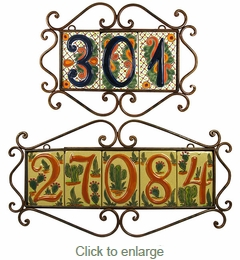 Wrought Iron Address Tile Holders