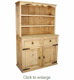 Rustic Pine Trastero Cupboard - Mexican Furniture