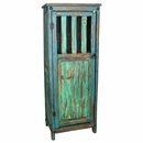 Painted Wood Storage Cabinet - Turquoise & Blue