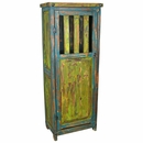 Painted Wood Storage Cabinet - Green & Blue