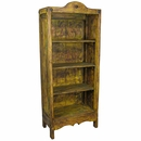 Medium Painted Wood Santa Fe Bookcase Yellow