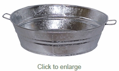 #1 Round Galvanized Tin Beer Tubs - Small - Set of 2
