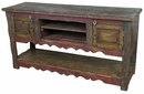 Painted Wood Scalloped Skirt Buffet or Entertainment Console