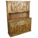 Rustic Brown Wood Trastero Hutch