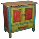 Small Multicolored Rustic Buffet