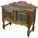 Painted Wood Sideboard with Turned Legs