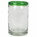 Green Rimmed Mexican Highball Glasses - Set of 4