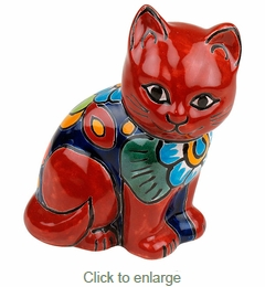 Mini Talavera Cat Figurine