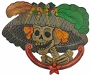 Medium Painted Tin Catrina Wall Plaque