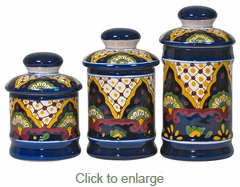 Talavera Canisters - Set of 3