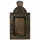 Tin Flame Shadow Box with Glass Door