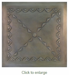 2 - Tin Ceiling Tiles - Mexican Embossed - Style #D