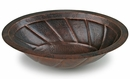 Oval Hammered Copper Sink - Spiral Design