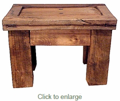 Old Wood Rustic End Table