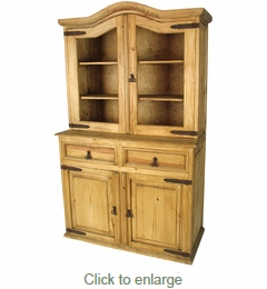 Domed Top Rustic Pine Cupboard - Mexican Furniture