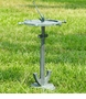 Ship's Wheel and Anchor Birdbath by SPI Home