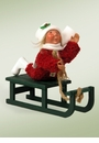 Byers Choice Carolers Toddler on Sled Doll