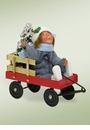 Byers Choice Carolers Toddler in Wagon Doll