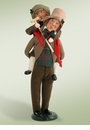 Byers Choice Carolers Bob Cratchit and Tiny Tim Doll
