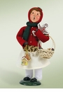 Byers Choice Carolers Girl with Gingerbread Doll