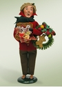 Byers Choice Carolers Man with Gingerbread Doll