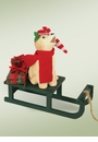 Byers Choice Carolers Dog with Sled