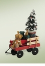 Byers Choice Carolers Red Wagons with Toys