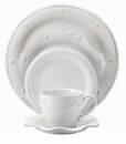 Juliska Dinnerware Berry and Thread 5 Piece Set - Whitewash