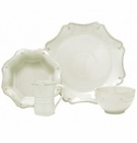 Juliska Dinnerware Berry and Thread 4 Piece Add-on Set - Whitewash