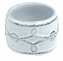 Juliska Dinnerware Berry and Thread Napkin Ring - Whitewash