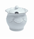 Juliska Dinnerware Berry and Thread Lidded Sugar/Jam - Whitewash