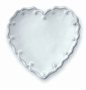 Juliska Berry and Thread Heart Cocktail Plates (Set of 4) - Whitewash
