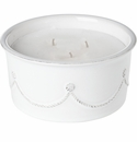Juliska Berry and Thread Outdoor Citronella Candle Whitewash
