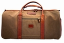 White Wing Large Canvas & Leather Duffle Bag (Tan)