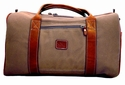 White Wing Medium Canvas & Leather Duffle Bag (Tan)